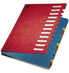 LEITZ Ordnungsmappe Colour, A4, 24,5x32cm, 12 Fä., rot