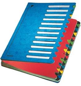 LEITZ Ordnungsmappe Colour, A4, 24,5x32cm, 24 Fächer, blau
