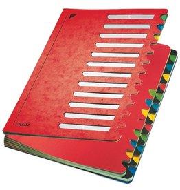 LEITZ Ordnungsmappe Colour, A4, 24,5x32cm, 24 Fächer, rot