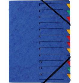 PAGNA Ordnungsmappe Easy, Presssp., A4, 12 Fächer, blau