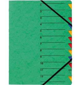 PAGNA Ordnungsmappe Easy, Presssp., A4, 12 Fächer, grün