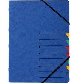 PAGNA Ordnungsmappe Easy, Presssp., A4, 7 Fächer, blau