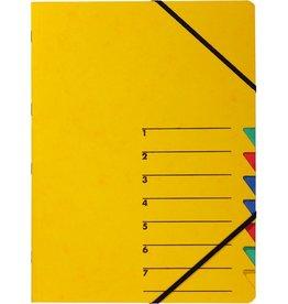 PAGNA Ordnungsmappe Easy, Presssp., A4, 7 Fächer, gelb