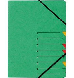 PAGNA Ordnungsmappe Easy, Presssp., A4, 7 Fächer, grün