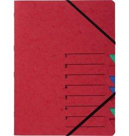PAGNA Ordnungsmappe Easy, Presssp., A4, 7 Fächer, rot