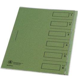 DONAU Ordnungsmappe, Karton (RC), A4, 24,3 x 30,7 cm, 6 Fächer, grün