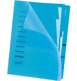 STAPLES Ordnungsmappe, PP, Ecksp.gummi, A4, 6 Fä., blau