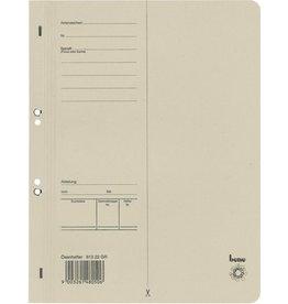 bene Ösenhefter, Karton (RC), 1/1 Vorderdeckel, A4, grau