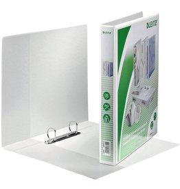 LEITZ Präsentationsringbuch Stand., A4, ü, 2-D-R-Mech., Ring-Ø: 25 mm, weiß