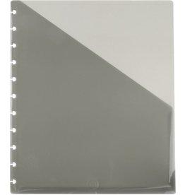 M BY STAPLES Prospekthülle arc, rechts offen, 11fach Lochung, A4, rauchgrau