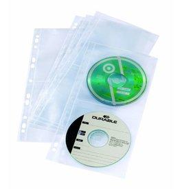DURABLE Prospekthülle COVER LIGHT S, PP, Univ.loch., 12,7x26cm, fl, für: 4CDs