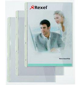 Rexel Prospekthülle, mit Klappe, PP, A4, 0,11 mm, transparent