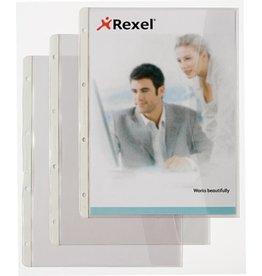 Rexel Prospekthülle, PVC-Weichfolie, rechts offen, A4, 0,15mm, farblos