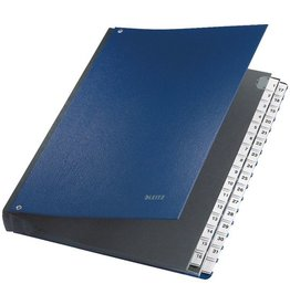 LEITZ Pultordner, PP-kasch., 1-31, A4, 27x34,5cm, 32 Fächer, blau