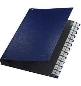 LEITZ Pultordner, PP-kasch., A-Z, A4, 27x34,5cm, 24 Fächer, blau