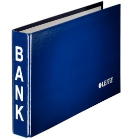 LEITZ Ringbuch Bank, 23,3x14,4cm, 2-Ring-Mechanik, Ring-Ø: 20 mm, blau