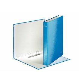 LEITZ Ringbuch WOW, A4, überbreit, 2-D-R-Mech., Ring-Ø: 25mm, blaumetallic