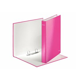 LEITZ Ringbuch WOW, A4, überbreit, 2-D-R-Mech., Ring-Ø: 25mm, pinkmetallic