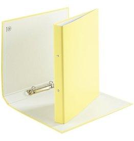 DONAU Ringbuch, PP, A4, 2-Ring-Mechanik, Ring-Ø: 20 mm, gelb