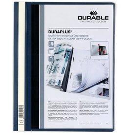 DURABLE Schnellhefter DURAPLUS®, Hartfolie, transp.Vorderd., A4, dunkelblau