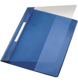 LEITZ Schnellhefter Exquisit, transp.Vorderd., kfm. Heft., A4, ü, blau