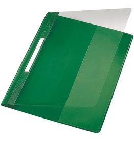 LEITZ Schnellhefter Exquisit, transp.Vorderd., kfm. Heft., A4, ü, grün