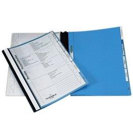 DURABLE Schnellhefter Personal, Kst., transp.Vorderd., 5 kfm. Heft., A4, blau