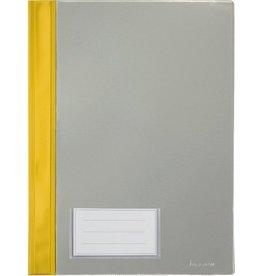 bene Schnellhefter, PVC-Weichfolie, transparenter Vorderdeckel, A4, gelb