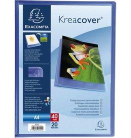 EXACOMPTA Sichtbuch Kreacover® Chromaline, PP, 20 Hüllen, A4, blau, transparent