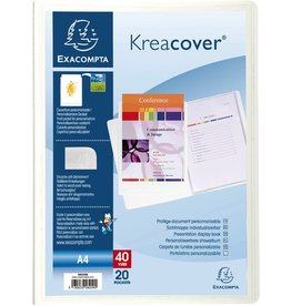 EXACOMPTA Sichtbuch Kreacover®, PP, 20 Hüllen, A4, weiß, opak