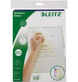 LEITZ Sichthülle Premium, PVC-Hartfolie, A4, 0,15mm, sortiert, glatt