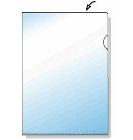 Rexel Sichthülle Standard, PVC-Hartfol., o./re.off., A4, 0,12mm, glaskl, gl.