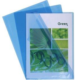 EXACOMPTA Sichthülle, PVC, oben / rechts offen, A4, 0,13 mm, blau, glatt