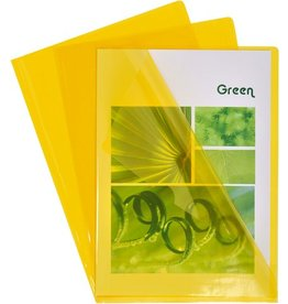 EXACOMPTA Sichthülle, PVC, oben / rechts offen, A4, 0,13 mm, gelb, glatt