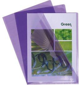 EXACOMPTA Sichthülle, PVC, oben / rechts offen, A4, 0,13 mm, violett, glatt