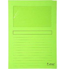 EXACOMPTA Sichtmappe Forever®, Karton (RC), 120 g/m², A4, 22 x 31 cm, hellgrün