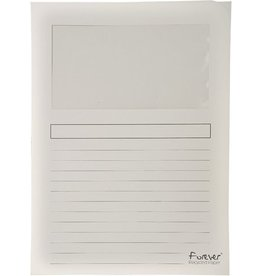 EXACOMPTA Sichtmappe Forever®, Karton (RC), 120 g/m², A4, 22 x 31 cm, weiß
