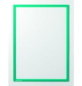 Ultradex Sichttasche, magnetisch, PET, A4, farblos/grüner Rahmen
