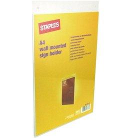 STAPLES Sichttasche, zur Wandbefestigung, A4 hoch, farblos, glatt