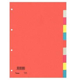 bene Register, Karton (RC), blanko, 4fach Lochung, A4, volle Höhe, 10 Blatt