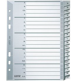 LEITZ Register, PP, A-Z, A5, 16,5x21cm, 20Bl., grau