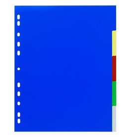 DURABLE Register, PP, blanko, A4, ü, 24,5x29,7cm, 5 Blatt, 5farbig