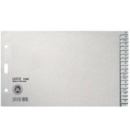 LEITZ Register, Tauenpapier (RC), A-Z, A5 quer, 20 Blatt, grau