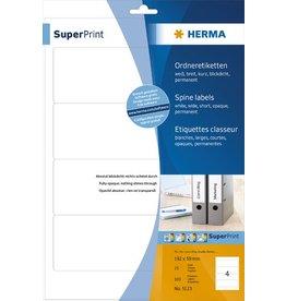 HERMA Rückenschild, sk, breit / kurz, 59 x 192 mm, weiß