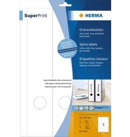 HERMA Rückenschild, sk, breit / lang, 59 x 297 mm, weiß