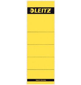 LEITZ Rückenschild, sk, Pap., breit/kurz, 61x192mm, gelb
