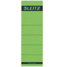 LEITZ Rückenschild, sk, Pap., breit/kurz, 61x192mm, grün
