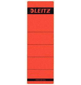 LEITZ Rückenschild, sk, Pap., breit/kurz, 61x192mm, rot