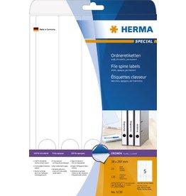 HERMA Rückenschild, sk, schmal / lang, 38x297mm, weiß