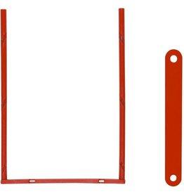ELBA Abheftbügel tric, Metall, kunststoffummantelt, Füllh.: 80 mm, rot